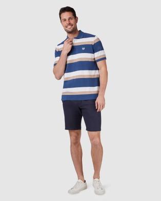 Blazer Jude Polo - Shirts & Polos (Navy/Tan)