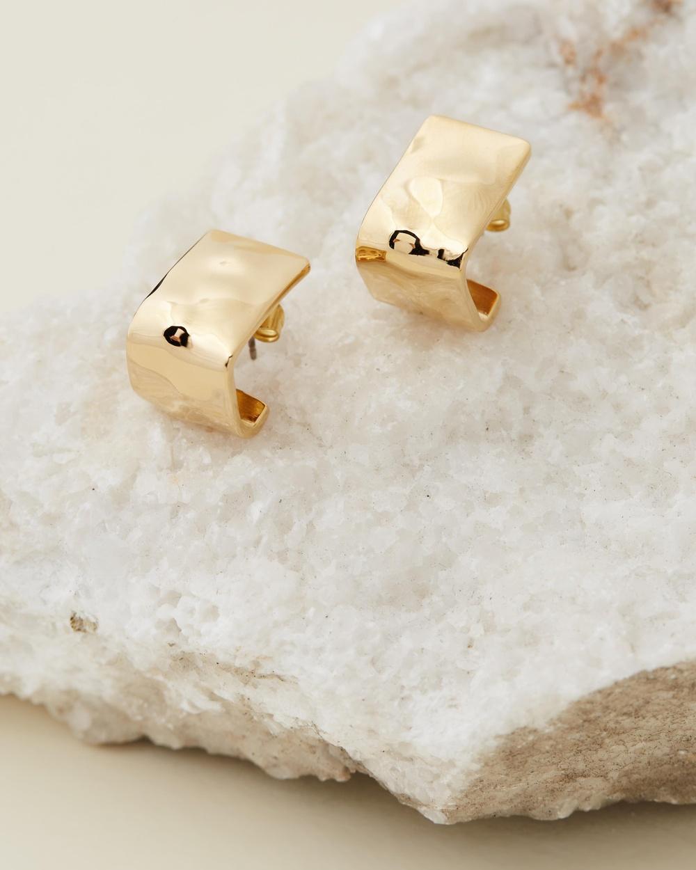 Soko Bahari Square Hoops Jewellery Gold