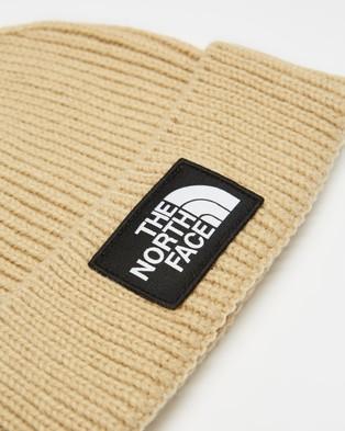 The North Face Logo Box Cuffed Beanie - Headwear (Beige)