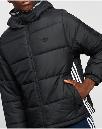 Adidas Originals Padded Hooded Puffer Jacket Black
