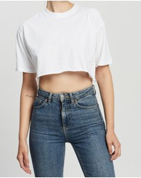 TOPSHOP - Washed Cropped T-Shirt