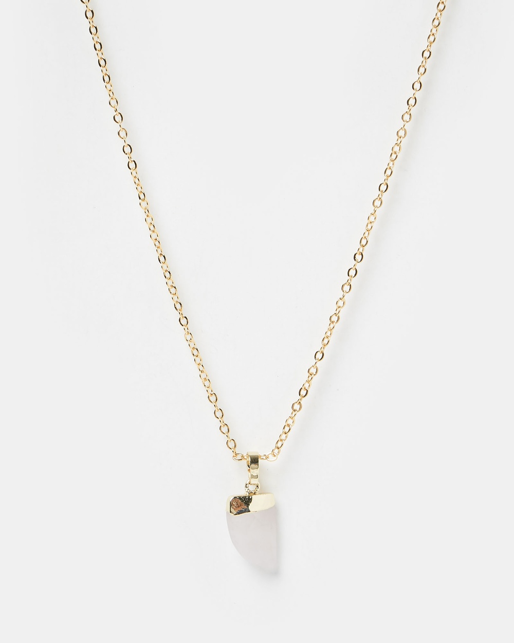 Miz Casa and Co Stone Charm Necklace Jewellery Gold Pink