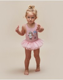 Huxbaby - Skater Twins Ballet Swimsuit - Babies-Kids