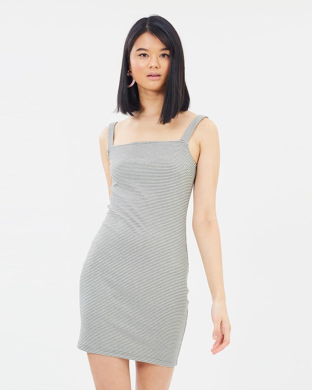 Otto Mode New Elements Dress Bodycon Dresses Green Stripe New Elements Dress