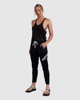 First Base Skinny Tank - Muscle Tops (Black)