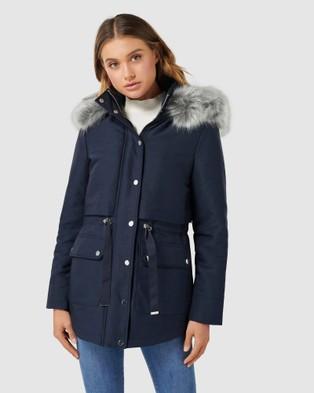 Forever New Arianna Parka - Coats & Jackets (Navy)
