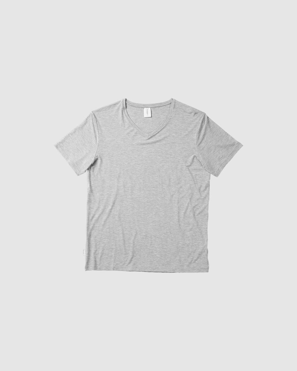 Boody Organic Bamboo Eco Wear - 2 Pack V Neck T Shirt - Short Sleeve T-Shirts (Multi) 2 Pack V-Neck T-Shirt