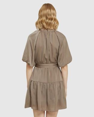 Oxford Arina Silky Dress - Dresses (Grey)