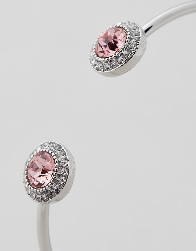 Women Ayla Bangle with Pink Swarovski® Crystals