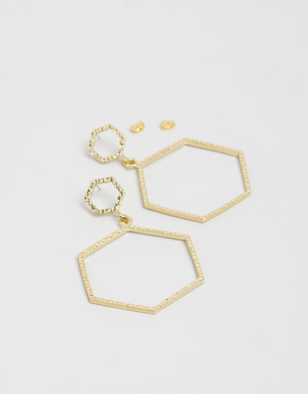 Luv Aj - The Hammered Hex Earrings
