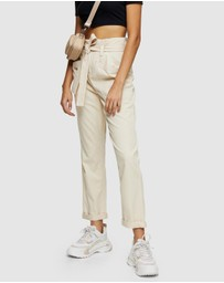 TOPSHOP - Tie Waist Utility Trousers
