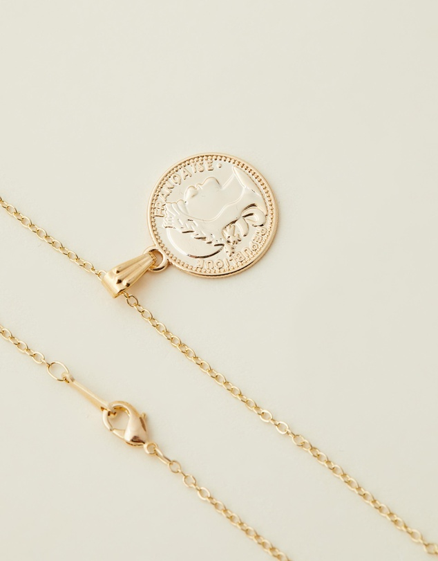 Women Mini Gold Coin Necklace