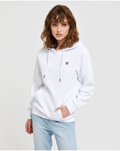 Fila Badge Hood - Women's White
