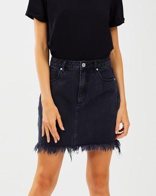 Abrand A Skirt - Denim skirts (Graphite)
