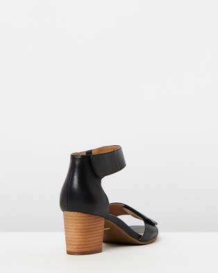 Vionic Solana Heeled Sandals - Mid-low heels (Black)