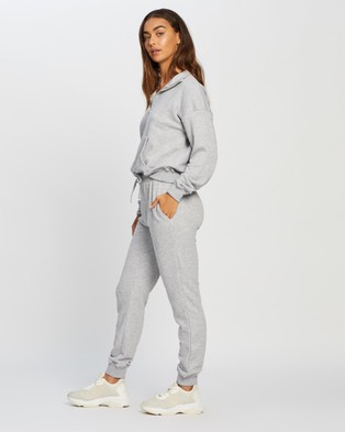 Missguided Co Ord Zip Through Sweat And Jogger Set - Sweats (Grey)