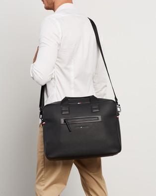 Tommy Hilfiger - Essential PU Computer Bag Bags (Black)