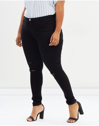 DP Curve - CURVE Darcy Skinny Jeans with Rip Knees