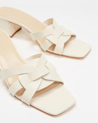 Atmos&Here Biarritz Leather Heels - Heels (Cream Leather)