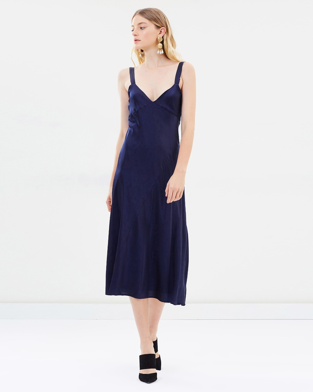 Hansen & Gretel Goldie Silk Dress Dresses Deep Navy Goldie Silk Dress