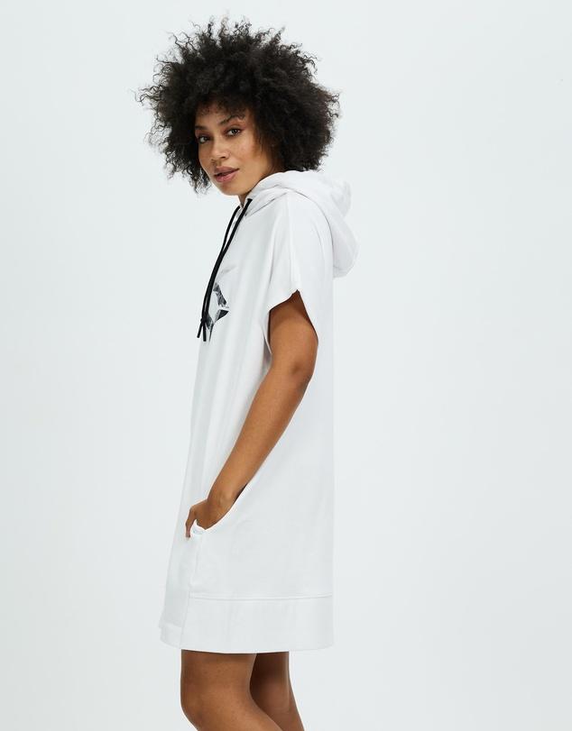 Women Stacked City Logo Hooded Sneaker Dress