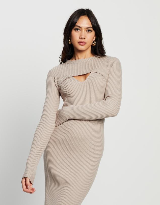 Women Alana Double Layer Knit Top