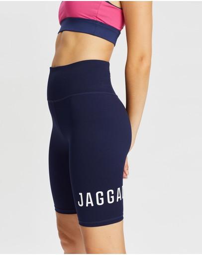 Jaggad Core Panelled Bike Shorts Navy White