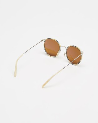 Oliver Peoples Casson - Sunglasses (Silver-Beige Horn & True Brown)