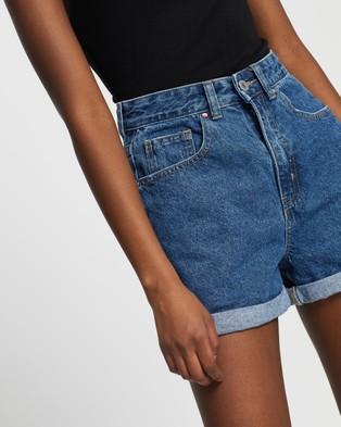 Cotton On High Mom Denim Shorts - Denim (Coogee Blue)