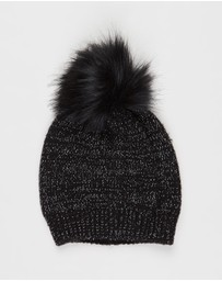Decjuba Kids - Speckled Single Pom Beanie - Teens