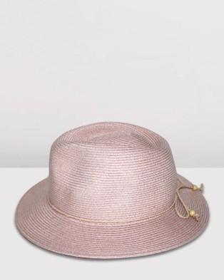 BeforeDark Avoca Flexibraid Fedora - Hats (Old Rose)
