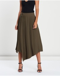 FRIEND of AUDREY - Nathalie Pleated Asymmetry Skirt