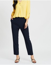 Dorothy Perkins - High-Waisted Slim Leg Trousers