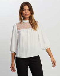 Atmos&Here - Joslyn Contrast Lace Blouse