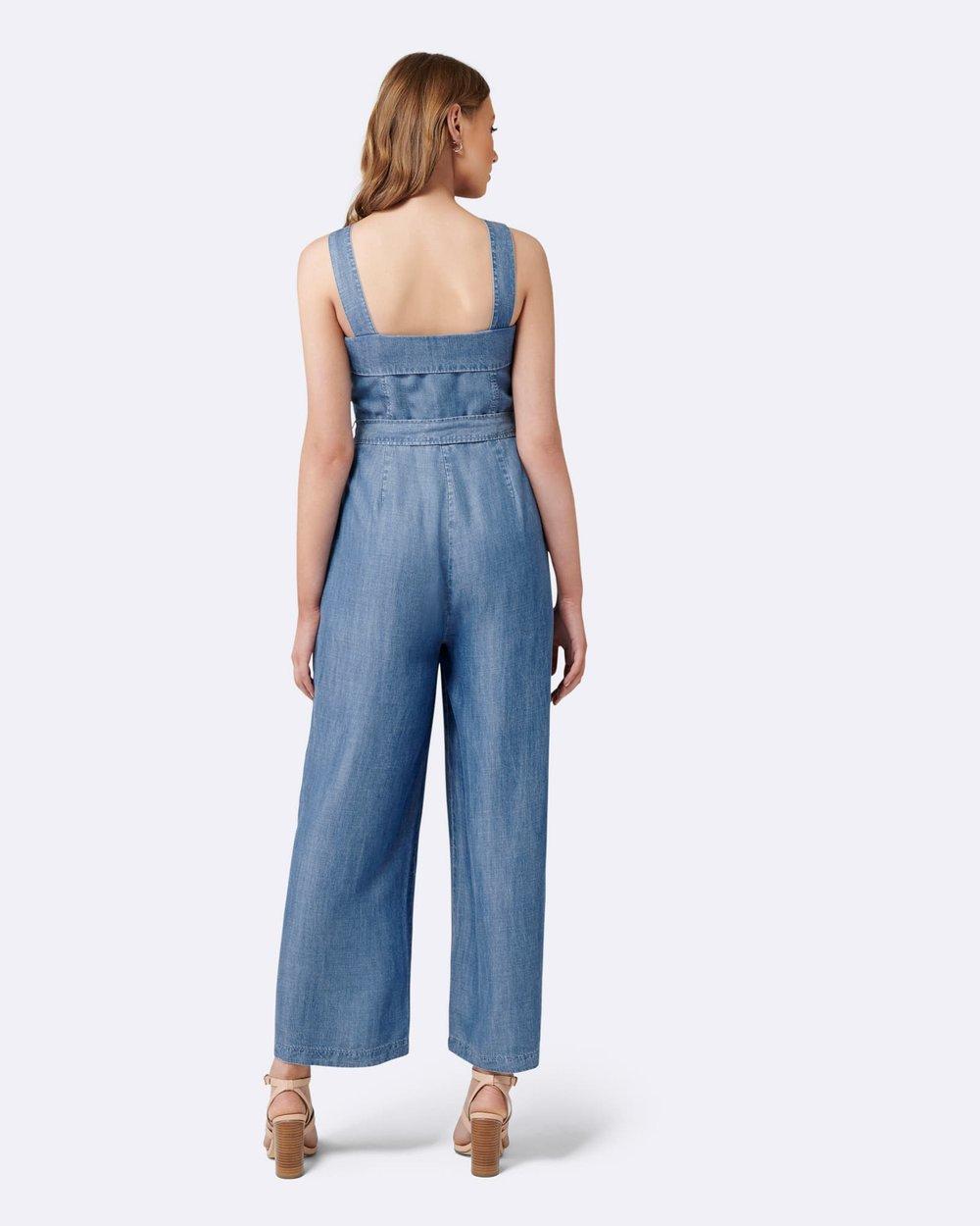 22b0cf96d8da Renee Button Front Denim Jumpsuit by Forever New Online