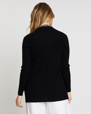 David Lawrence Vale Cardigan - Jumpers & Cardigans (BLACK)