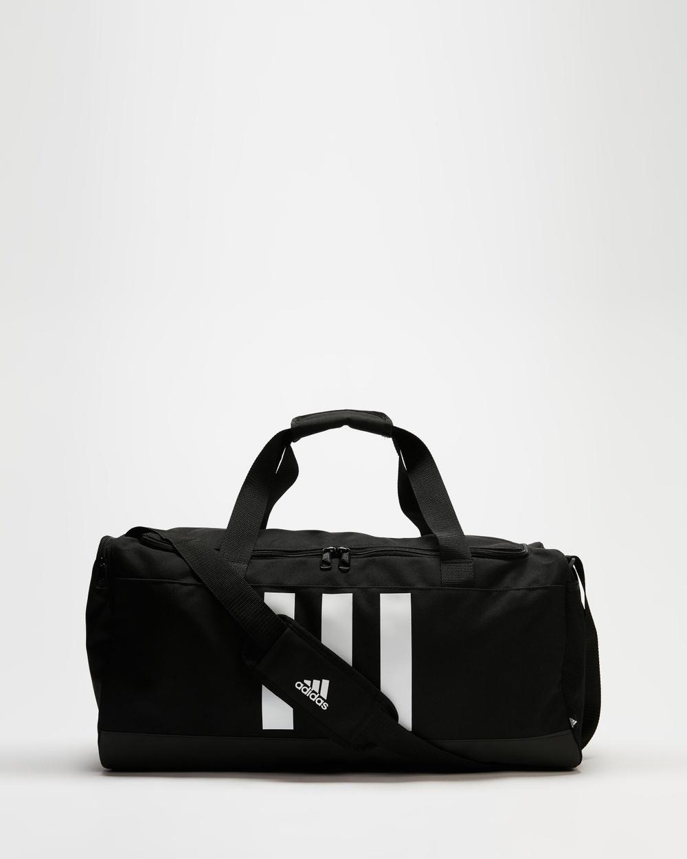 adidas Performance Essentials 3 Stripes Small Duffle Bag Bags Black & White 3-Stripes