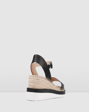 Jo Mercer Kandy Mid Heel Wedge Espadrilles - Sandals (Black)
