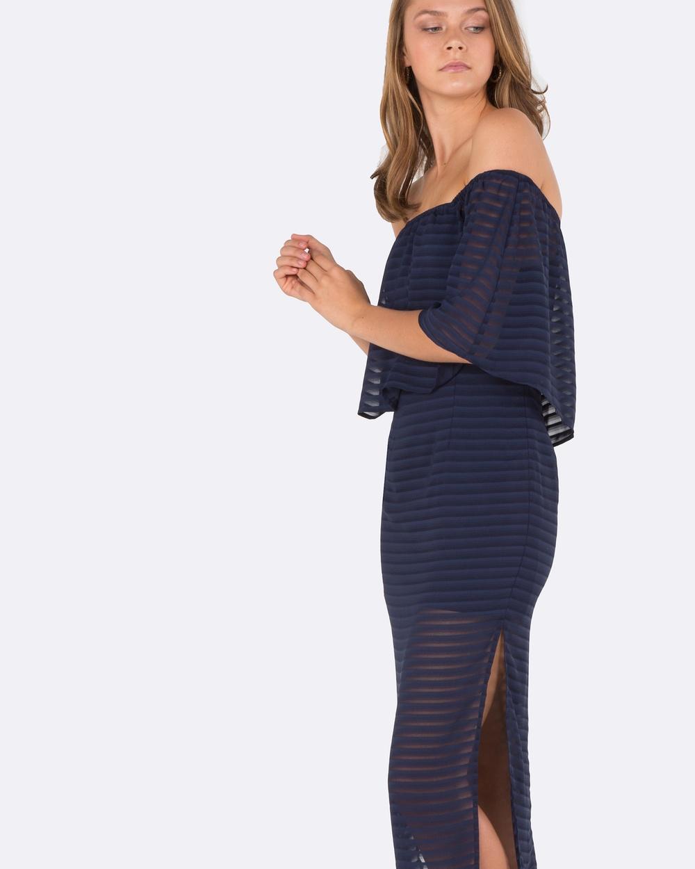 Amelius Adorned Dress Dresses Navy Adorned Dress