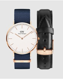 Daniel Wellington - Gift Set - Classic Bayswater 40mm + Leather Strap Sheffield