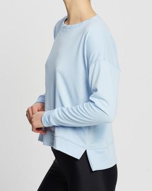 Onzie High Low Sweater - Crew Necks (Light Blue)