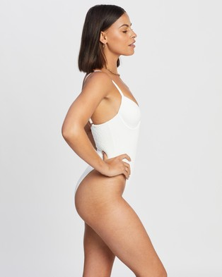 Endless Travel Notes One Piece - One-Piece / Swimsuit (White Floral Brocade)