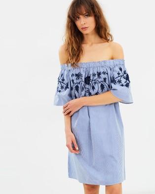 Vero Moda – Bella Off Shoulder Short Dress Snow White