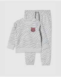Milky - Zebra Track Pants & Sweat Set - Babies