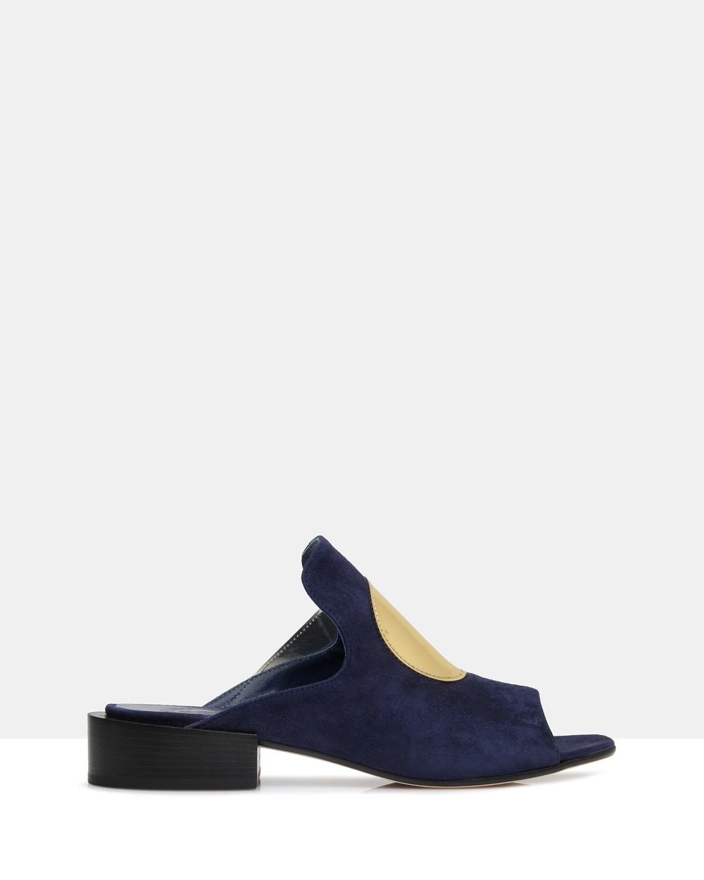 Beau Coops Valerie Open Toe Mules Mid-low heels Navy Valerie Open Toe Mules