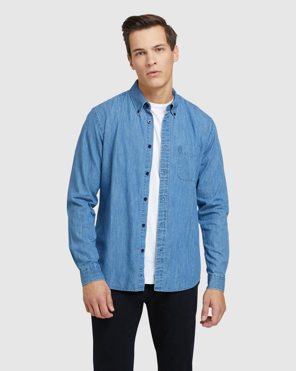Oxford Uxbridge Chambray Shirt Casual shirts Blue