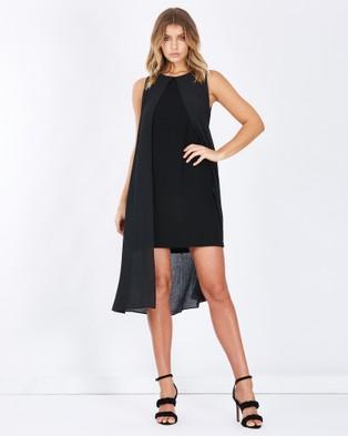 Tussah – Brighton Split Front Midi Dress Black