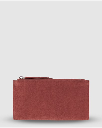 Cobb & Co Taree Soft Leather Pouch Wallet Red