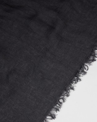 Cloth & Co. Hand Loomed Linen Scarf - Scarves & Gloves (Midnight)