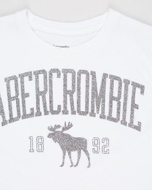 Abercrombie & Fitch Shine Sporty Tee   Teens - T-Shirts & Singlets (White)